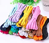 Elastic Bands Phinicco 16 Colors 52 Yards 1/4 Inch Elastic for Sewing Masks, Headbands, Hair Bands, Shorts Waist, Shoe Laces, Wigs, Bracelets, Crafts DIY Projects(16 Colors 3m per Color)