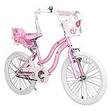 COEWSKE - Bicicleta para niños (estructura de acero, estilo princesa, con rueda de entrenamiento)