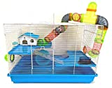 Large 3-Levels Habitat Dwarf Hamster House Cage for Rodent Gerbil Mouse Mice Rat with Crossover Tube Tunnel Expandable and Customizable