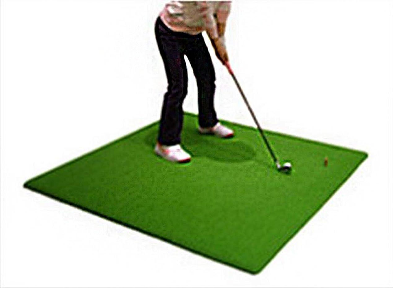 脅かすスパンハロウィンゴルフ練習用スタンス&ショットマット 人工芝125cmサイズ 自宅GOLF練習 オリジナルティー付