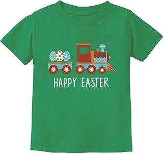 Easter Egg Hunt Kids Gift Happy Easter Train Toddler/Infant Kids T-Shirt 2T Green
