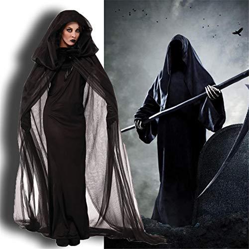 TBDLG Halloween-Vampir Kostüm-Frauen lange Kleid für immer Horror Braut Halloween Partei-Abendkleid-Partei-Kostüm,Schwarz,M