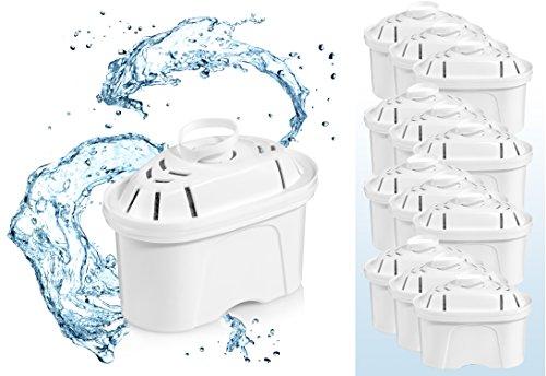 Sänger Wasserfilter 12er Pack Fresh 160 kompatibel mit *Brita Maxtra | Filterkartusche filtert bis zu 160 Liter | Entfernt nahezu vollständig Kalk und Schwermetalle | Praktisches Jahres-Paket