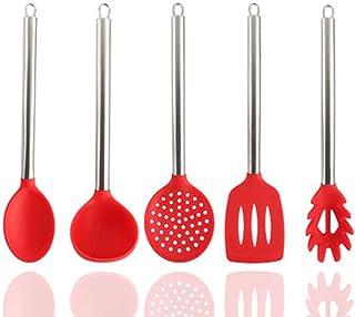 Kitchen Utensils Set Kitchen,5pcs Tool Set Kitchen Utensil Set Silicone Cooking Utensils For Cooking And Baking,Heat Resis...
