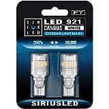 SIRIUSLED - FT- 921 922 579 LED Canbus Reverse Backup Trunk Light Bulb for Car Truck Super Bright High Power 3030+4014 SMD White 6500K Pack of 2