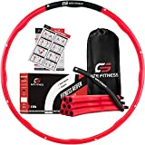 GATE FITNESS® Hula Hoop Reifen zum Abnehmen | Sport Hoola Reifen mit Wellendesign für Erwachsene | Anfänger & Fortgeschrittenen [1,2kg/1,5kg/2,1kg] | Fitnessreifen mit Schaumstoff - inkl. Tasche