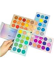 Beauty Searcher Paleta 60 kolorów cieni do powiek 4 w 1, paleta do makijażu, wysoko pigmentowane, jasne kolory, matowe, brokatowe, kremowe, cienie do powiek