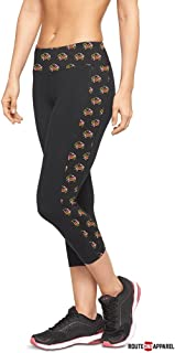 Route One Apparel | Maryland Flag Crab Pattern Sides Yoga Leggings in Black for Women