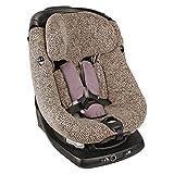 Ukje Funda para silla infantil AxissFix de Maxi Cosi, estampado de leopardo, absorbe el sudor y es suave para su hijo de algodón Öko-Tex.