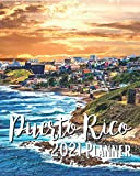 Puerto Rico 2021 Planner: Weekly & Monthly Agenda | January 2021 - December 2021 | Rocky Coast Of Puerto Rico El Morro Cover Design, Organizer And Calendar, Pretty and Simple