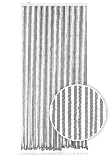 Kobolo Seilvorhang Türvorhang Grey 54 Stränge Dekovorhang