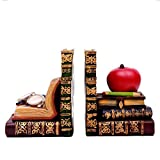 Tbaobei-Baby Fermalibri in Resina Creativo Bookends Mensola for School Library Shelf Home Office Fermalibri Vintage (Color : Gold, Size : One Size)