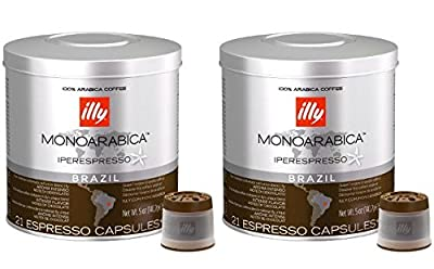 Illy Coffee Iperespresso Brazil - Set 2 cans of 21 capsules each