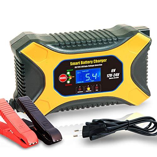 JIAOO Autobatterie Ladegerät 6V 2A 12V 6A 24V 3A Volt Motorrad batterieladegerät Mit Fahrzeugmodus&Reparaturmodus