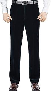 Pantaloni da Uomo Velluto A Coste Pantaloni Casual Vestito Pantaloni Chino