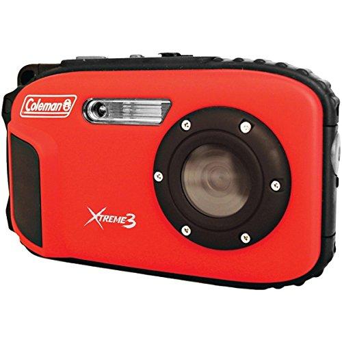 COLEMAN C9WP-R 20.0-Megapixel Xtreme3 HD Video Waterproof Digital Camera (Red)