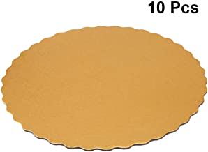 BESTONZON 30pcs 12-inch Golden Cake Boards Disposable Embossed Cake Circles Greaseproof Cake Liners