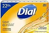 Dial Antibacterial Deodorant Gold Bar Soap, 4 Ounce,22 Count Net Wt 5.5 LBS