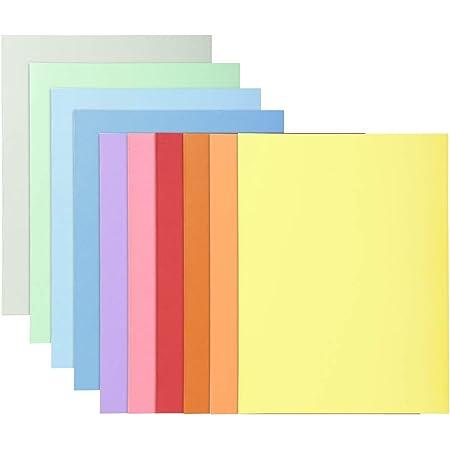 Exacompta - Réf. 330100E - Paquet 10 chemises rigides SUPER 210 g/m2 aux couleurs pastel - chemises certifiées PEFC - dimensions 24 x 32cm pour format A4 - 10 couleurs assorties