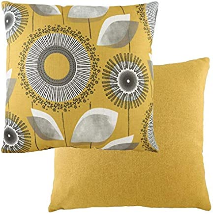 Evans Lichfield Retro Design Cushions Dandelion Design in Pink Grey 43cm x 43cm