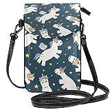 Unicornio pájaro Estrella pequeña Bandolera para teléfono móvil Cartera Ligera Bolsillos espaciosos Bolso para teléfono Inteligente para Mujeres niñas Adolescentes