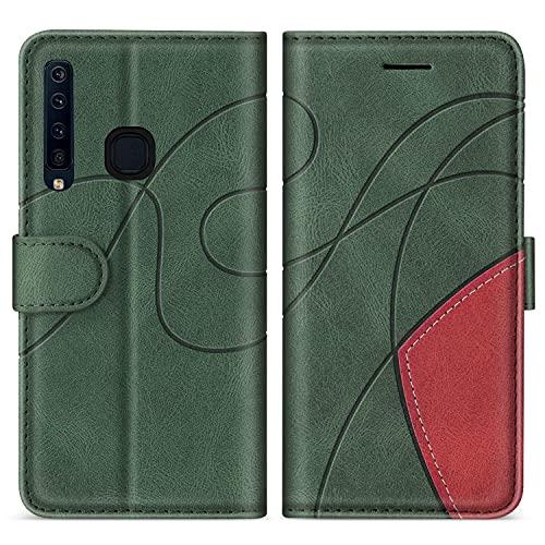 SUMIXON Hülle für Galaxy A9 2018, PU Leder Brieftasche Schutzhülle für Samsung Galaxy A9 2018, Kratzfestes Handyhülle mit Kartenfächern & Standfunktion, Grün