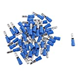 Plastic Fully Insulated Male Female Wire Bullet Connector Electrical Crimp Terminals (Blue, 11-2.6 mm) - Pack of 100 Pieces