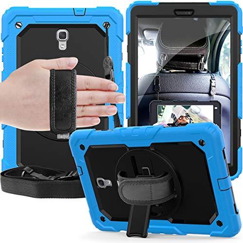 Tablet PC Bolsas Bandolera Adecuado para Samsung Galaxy Tab A 10.5 / T590 / T595, soporte giratorio de 360 grados con correa para el hombro y cubierta protectora para correa de mano + cubierta prote