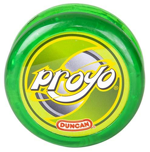 Duncan Toys ProYo Looper Yo-Yo, Beginner Yo-Yo with String, Wooden Axle and Plastic Body, Lime Green