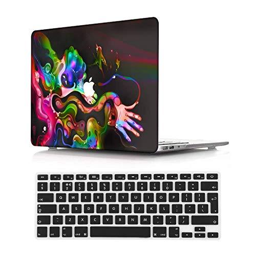 NEWCENT MacBook Pro 13' Funda,Plástico Ultra Delgado Ligero Cáscara Cubierta EU Teclado Cubierta para MacBook Pro 13 Pulgadas con Touch Bar Touch ID(Modelo:A2338 M1/A2289/A2251),Vistoso 173