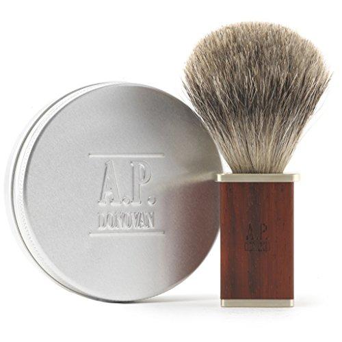 A.P. Donovan - Accesorios de afeitado   Brocha de afeitar   Jabón de afeitar   Correa   Piedra de afilar   Cuidado de la barba - Pincel de caoba y jabón