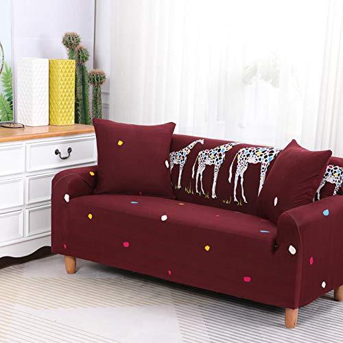 HXTSWGS Estensibile Copri Divano Letto,Copridivano Elasticizzato, Tessuto Elasticizzato, Fodera di Protezione per mobili-Rosso 1_90-140cm