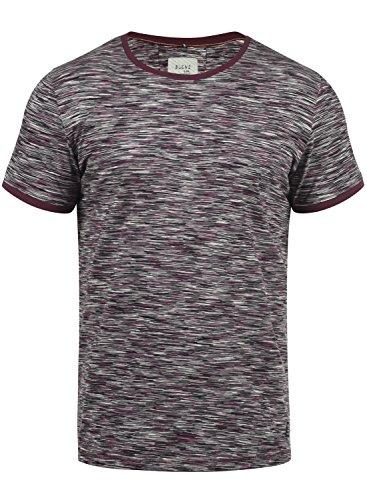 Blend Lex Herren T-Shirt Kurzarm Shirt Mit Streifen Und Rundhalsausschnitt 100{299a626bdbb50efe003f7668e9586b0f8d5cfa0c365dedd657271c7e0957bdb1} Baumwolle, Größe:XXL, Farbe:Wine Red (73812)