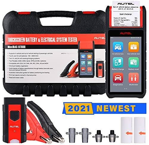 Autel MaxiBAS BT608 Car Battery Tester with All Systems Diagnostics, Cranking & Charging System Test Scanner, 100-3000 CCA Battery Load Tester...