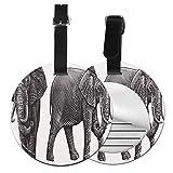 Etiquetas para Equipaje Bolso ID Tag Viaje Bolso De La Maleta Identifier Las Etiquetas Maletas Viaje Luggage ID Tag para Maletas Equipaje Aguafuerte Tronco Elefante Grabado 66