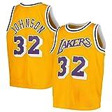WSUN Camiseta De Baloncesto De La NBA para Hombre, Camiseta De Los Angeles Lakers NBA 32# Magic Johnson, Camiseta Deportiva Transpirable De Ocio Camiseta Swingman,B,XXL(185~190CM/95~110KG)
