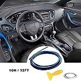 Car Trim Strip linea,fai da te Car Styling interni modanature Decorazione (10M blu)