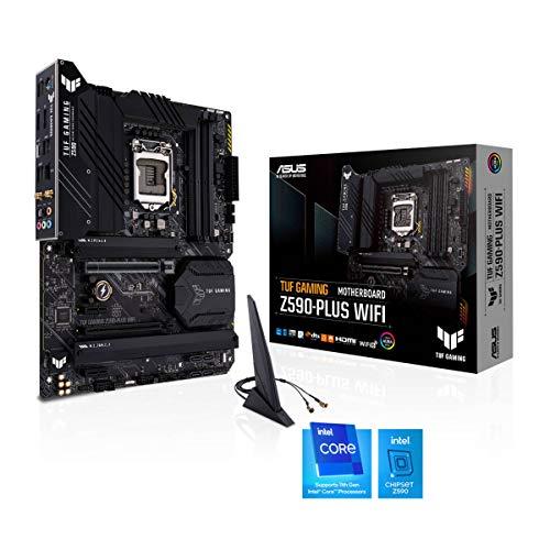 ASUS TUF Gaming Z590-PLUS WiFi - Placa Base (Intel Z590, LGA 1200, ATX con VRM de 16 Fases DrMOS, PCIe 4.0, 3 M.2, WiFi 6 y 2,5 GB Ethernet, HDMI, DisplayPort, USB 3.2 Gen. 2x2 Tipo C y Aura Sync)