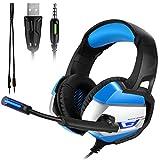 ATUTEN Auriculares Cascos Gaming de Diadema, Onikuma K5 Auriculares para Juegos...