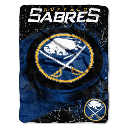 """Offiziell lizenzierte NHL """"Ice Dash"""" Mikro-Raschel-Überwurf, 116,8 x 152,4 cm, Unisex-Erwachsene, blau, 46"""