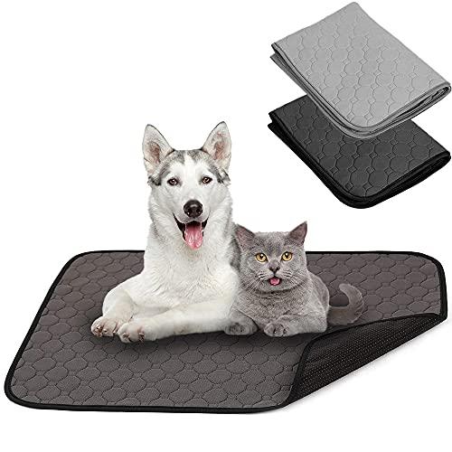 BPS 2X Empapador Entrenamiento para Perro Alfombras de Adiestramiento Caninas Lavable Almohadilla para Mascota Reutilizable Absorbente Antideslizante Color al Azar (M) BPS-5750 * 2