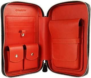 HUIJINCHAOSHI Cigarette Case, Leather Cigar Box, Black Leather Moisturizing Cigar Box, Detachable, Multi-function Cigarette Case. Fashion