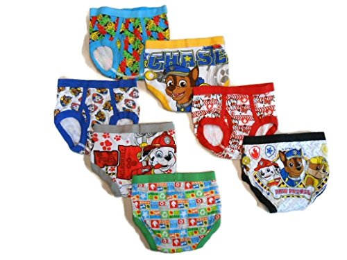 Little Boys' Toddler Paw Patrol Brief 4T, Pack of Seven
