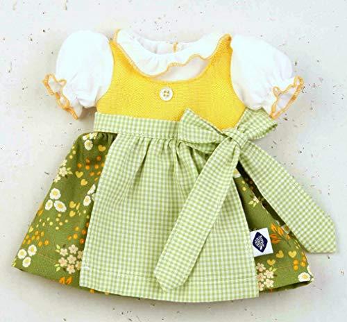 Schildkröt Puppen Kleid Dirndl in Grün Trachtenkleidung für 41 cm Puppen, Nr. 41931