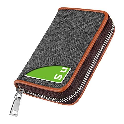 クレジットカードケース カード入れ 帆布 小銭入れ スキミング防止 じゃばら 大容量 コインケース メンズ レディース (5)