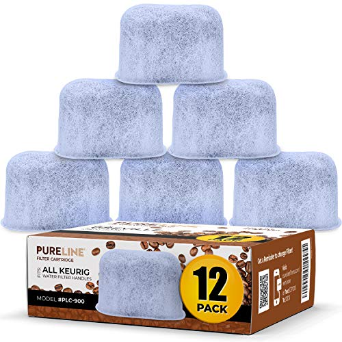 (12 Pack) Compatible Keurig Charcoal Replacment Water Filters by Pureline- Universal Fit for Keurig 2.0 and older models