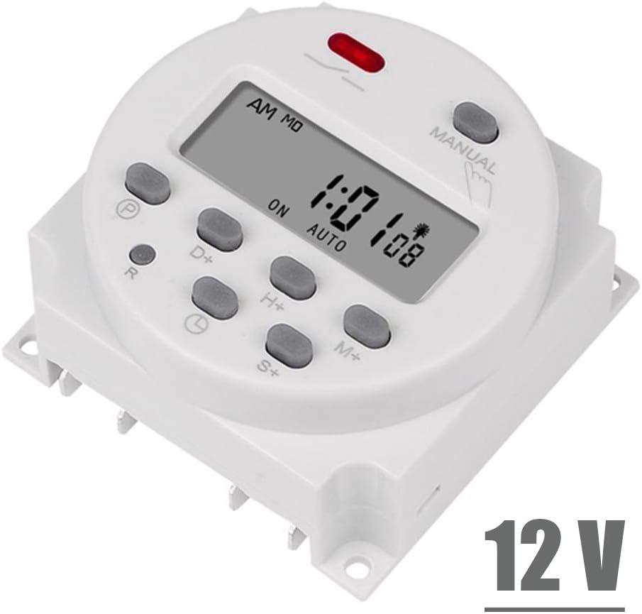 ZEXIN 7 Days Rechargeable Battery 5V 12V 24V 110V 220V Programmer Time Relay Digital Timer Timer Switch CN101A 5V