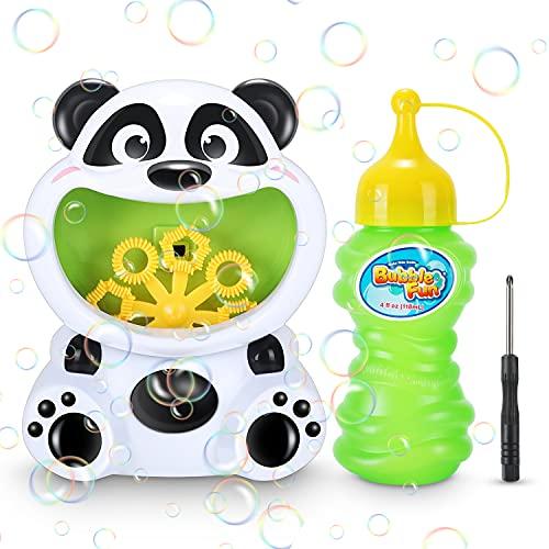 Macchina per Bolle, Macchina Automatica per Bolle Panda, Macchina per Bolle Automatica per Feste per Bambini, Creatore di Bolle Simpatico Cartone Animato con Soluzione di Sapone, Regali per Bambini