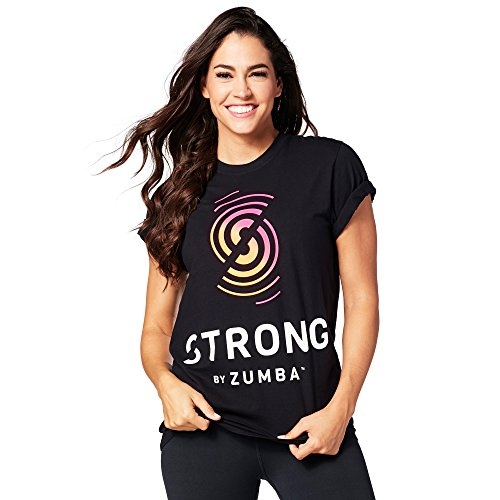 Zumba Fitness Damen Strong by Zumba Tee Unisex Tops, Back to Black, M/L