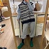 Set de Las Mujeres otoño versión Coreana Estudiante de Moda pequeña Camisa de Mezclilla Punto Chaleco suéter Chaleco de Dos Piezas Set Marea